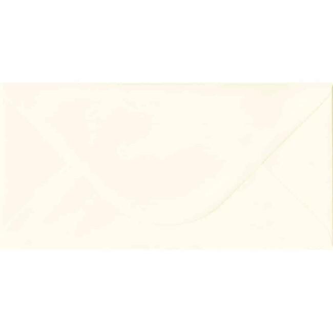 110mm x 220mm Magnolia Textured Envelope. DL Envelopes Size. Gummed Flap. 100gsm Paper.