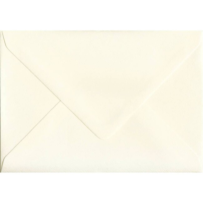 114mm x 162mm Magnolia Textured Envelope. C6 (to fit A6) Size. Gummed Flap. 100gsm Paper.
