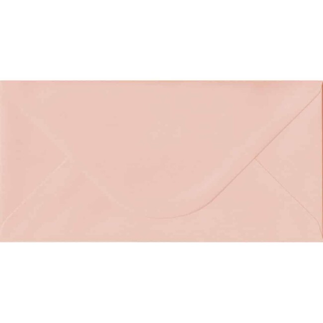 110mm x 220mm Salmon Top Quality Envelope. DL Envelopes Size. Gummed Flap. 100gsm Paper.