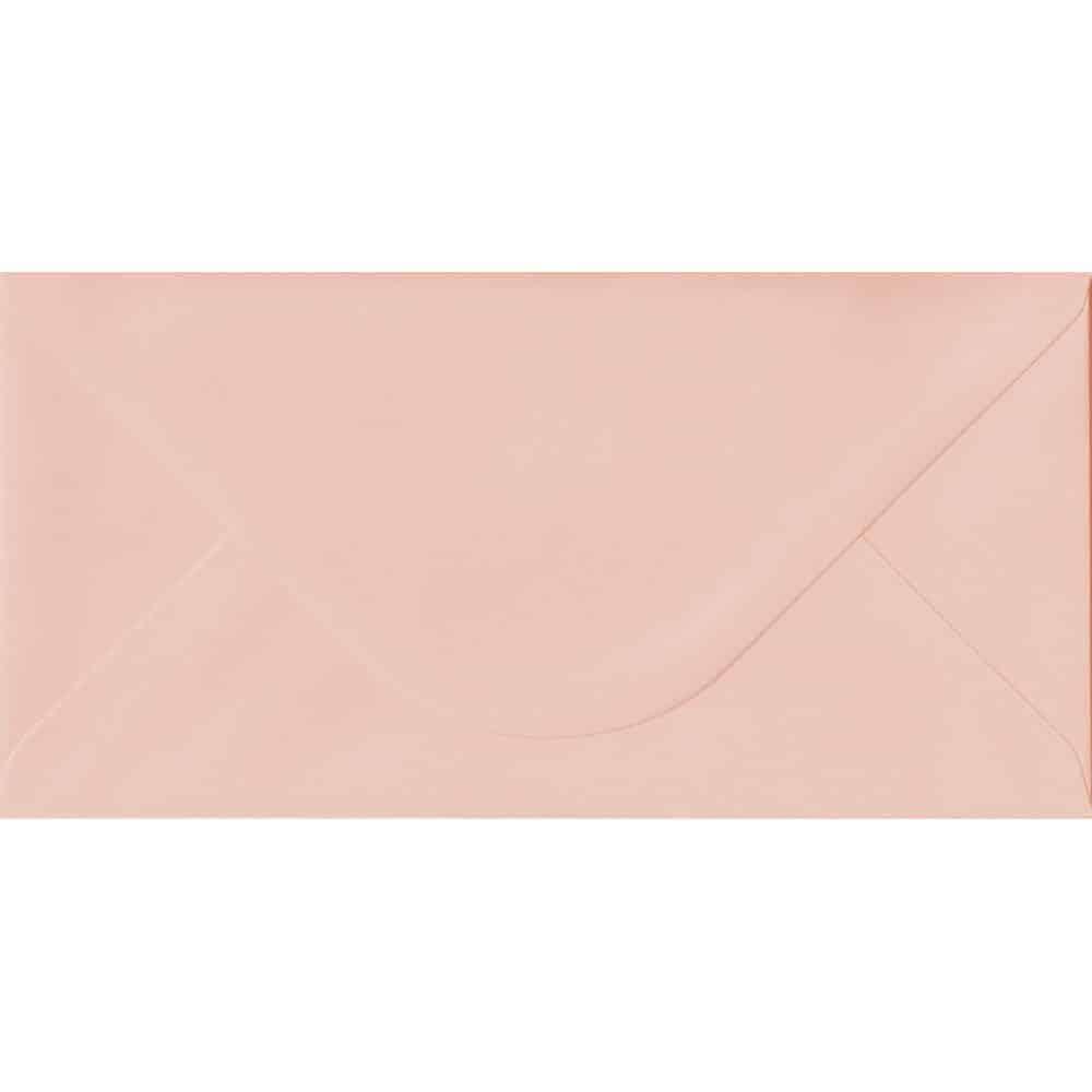 110mm x 220mm Salmon Top Quality Envelope. DL Envelopes Size. Gummed Flap. 100gsm Paper.