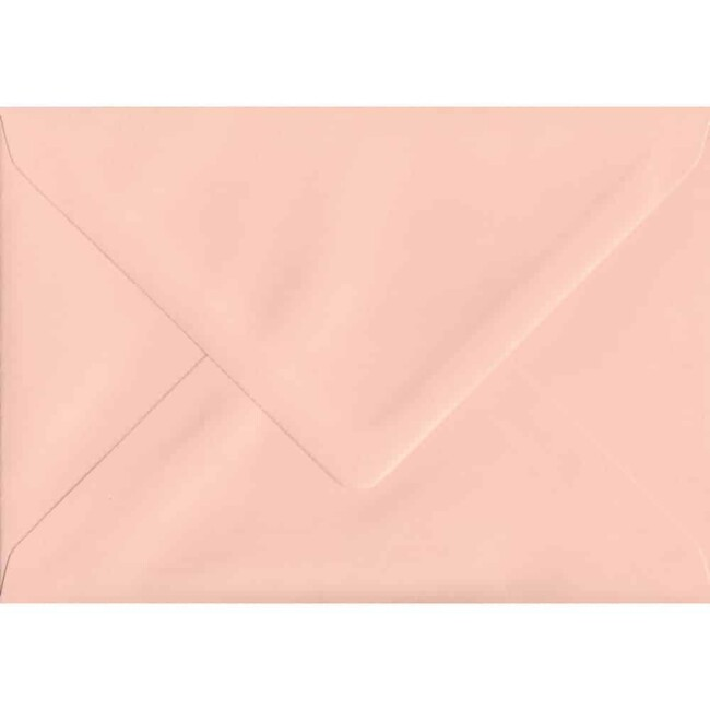 114mm x 162mm Salmon Top Quality Envelope. C6 (to fit A6) Size. Gummed Flap. 100gsm Paper.