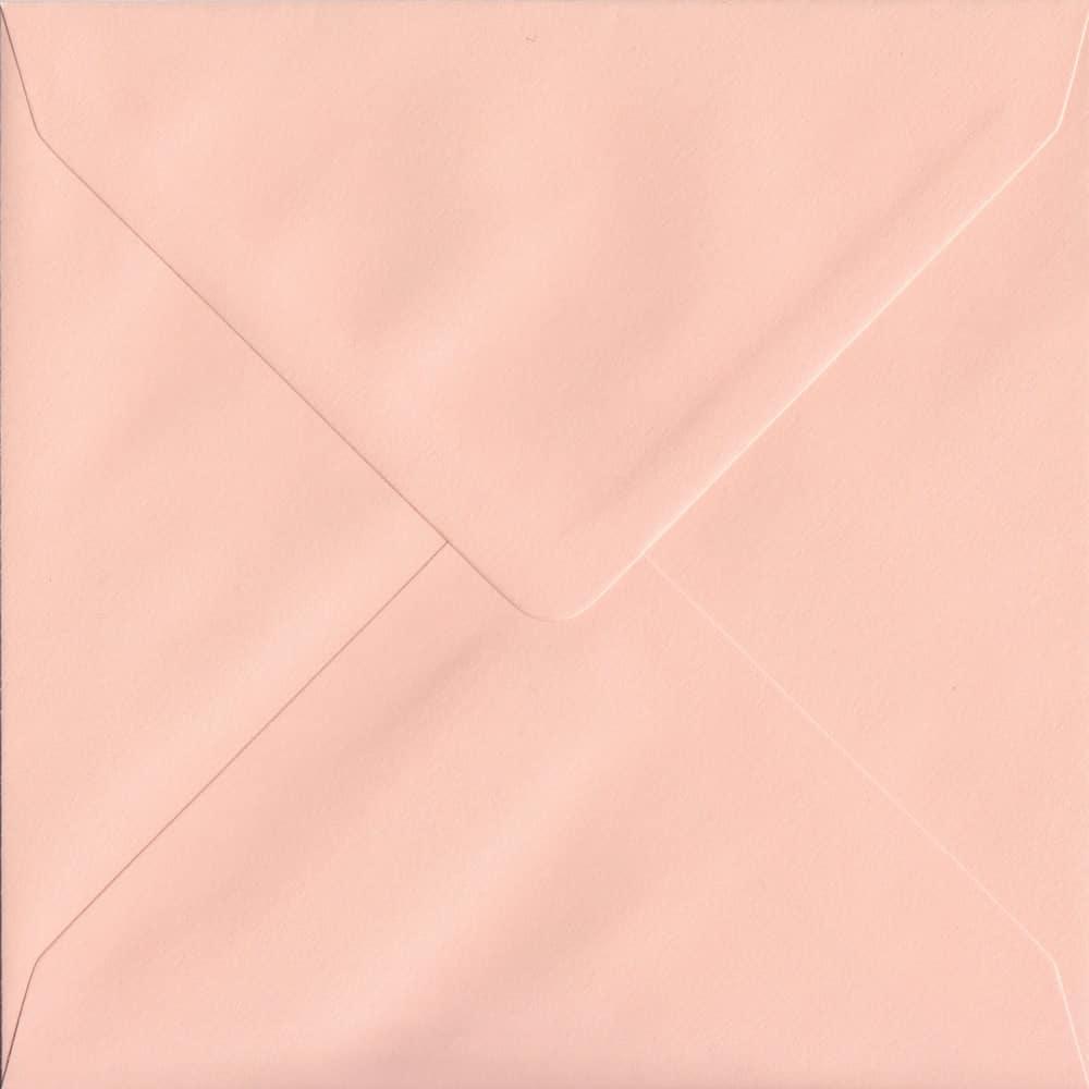 155mm x 155mm Salmon Top Quality Envelope. Square Envelopes Size. Gummed Flap. 100gsm Paper.