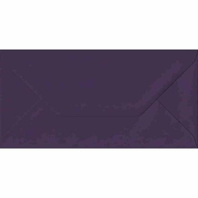 110mm x 220mm Aubergine Extra Thick Envelope. DL Envelopes Size. Gummed Flap. 135gsm Paper.