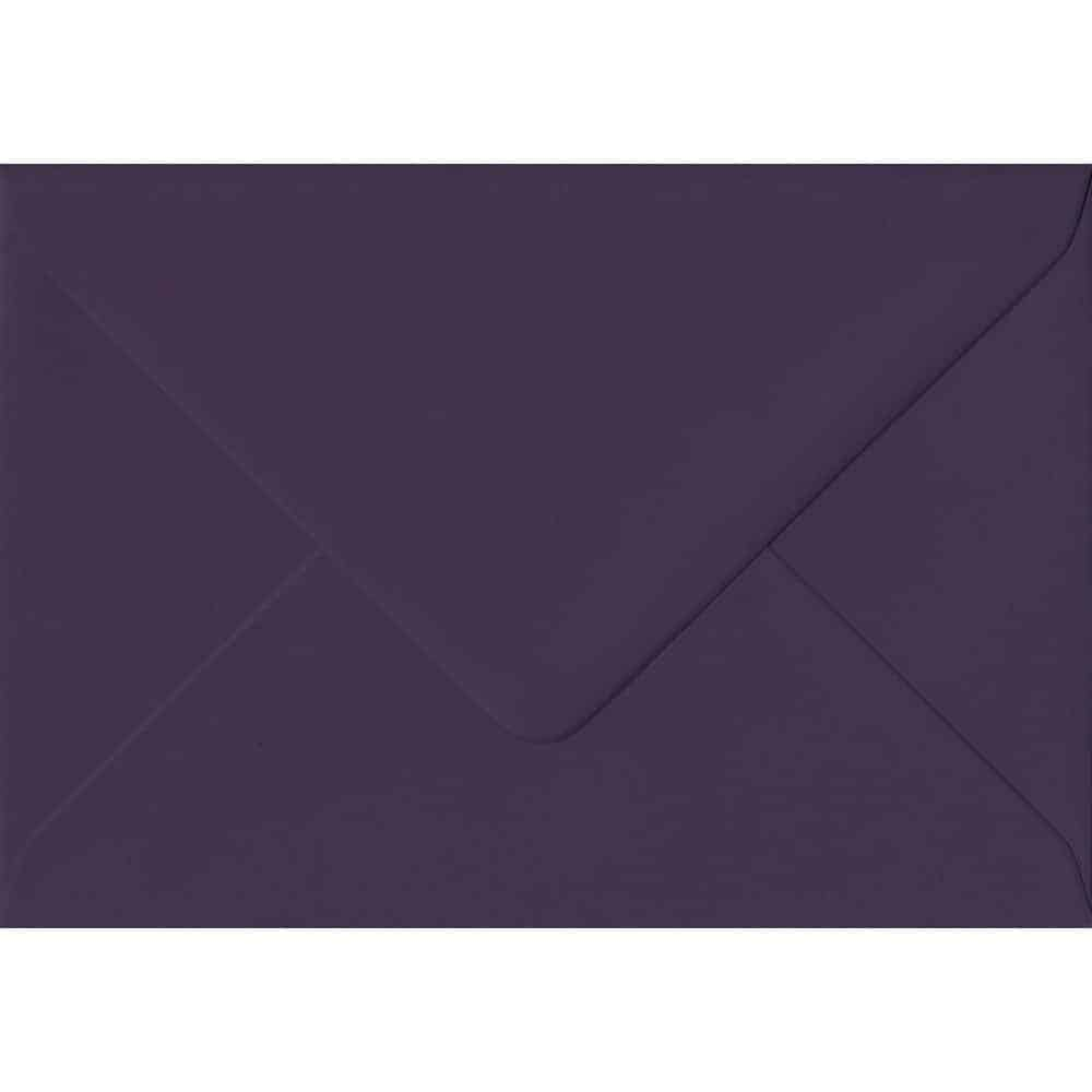 A7 Purple Envelope - 114mm x 162mm Aubergine Extra Thick Envelope. C6 (to fit A6) Size. Gummed Flap. 135gsm Paper.