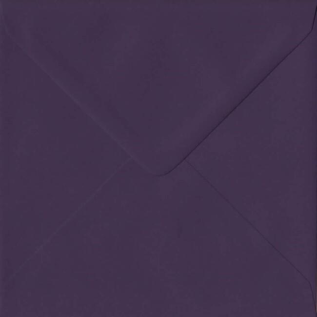 155mm x 155mm Aubergine Extra Thick Envelope. Square Envelopes Size. Gummed Flap. 135gsm Paper.