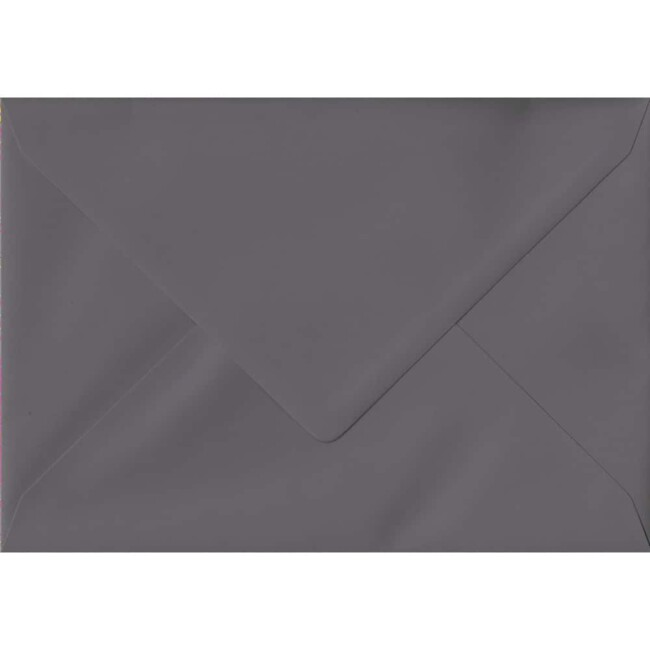 114mm x 162mm Dark Grey Extra Thick Envelope. C6 (to fit A6) Size. Gummed Flap. 135gsm Paper.