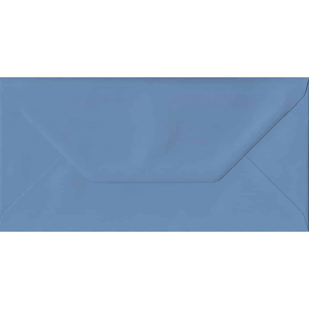 110mm x 220mm French Blue Extra Thick Envelope. DL Envelopes Size. Gummed Flap. 135gsm Paper.