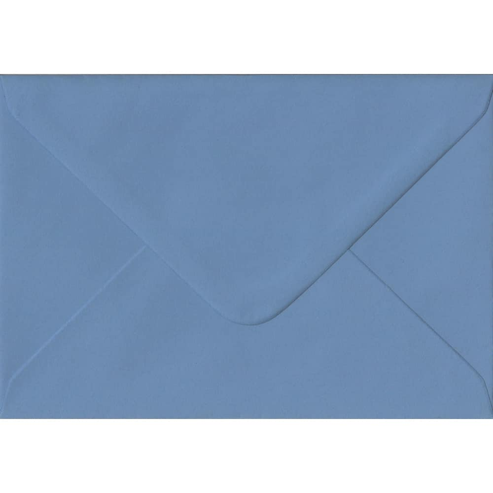 114mm x 162mm French Blue Extra Thick Envelope. C6 (to fit A6) Size. Gummed Flap. 135gsm Paper.