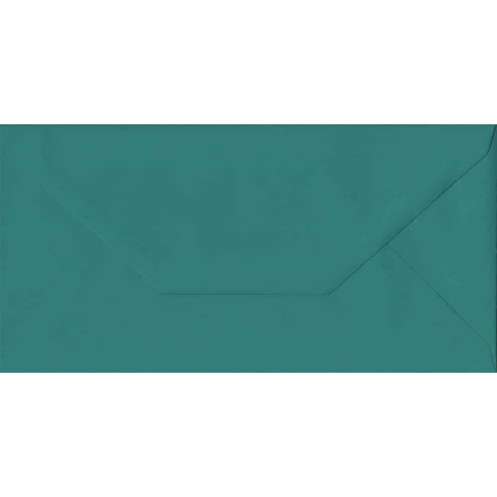 110mm x 220mm Teal Green Extra Thick Envelope. DL Envelopes Size. Gummed Flap. 135gsm Paper.