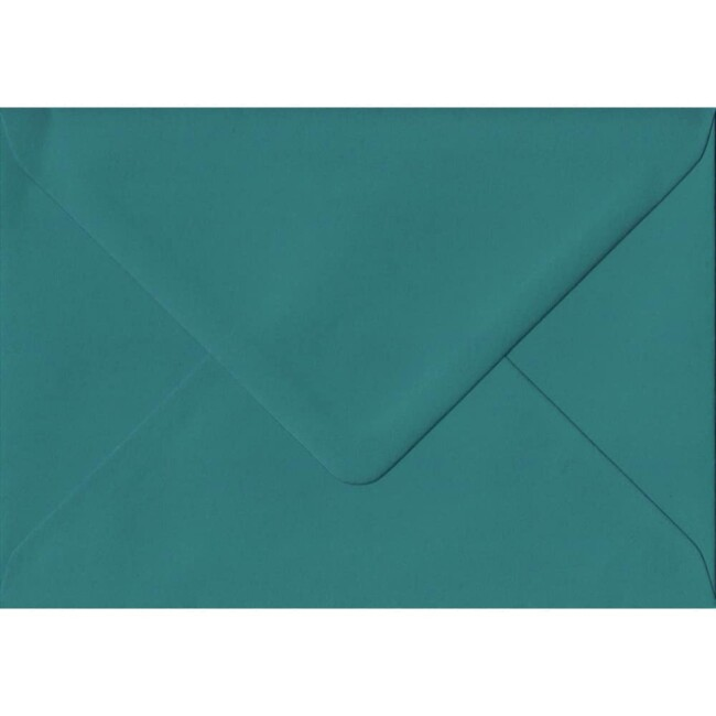 Teal Green Extra Thick Envelope. C6 (to fit A6) Size. Gummed Flap. 135gsm Paper.