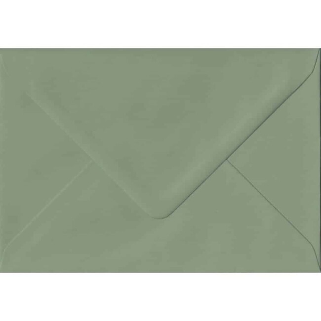 114mm x 162mm Vintage Green Extra Thick Envelope. C6 (to fit A6) Size. Gummed Flap. 135gsm Paper.