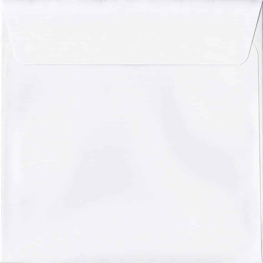 250 Ice White 220mm x 220mm 120gsm Peel/Seal Envelopes