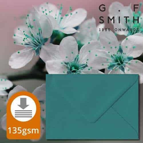 Teal Green Luxury Envelopes