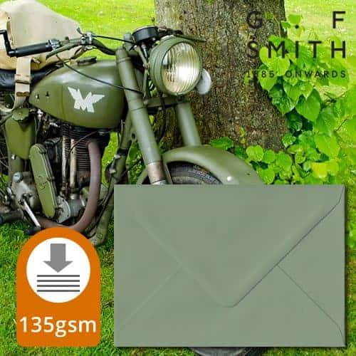Vintage Green Luxury Envelopes