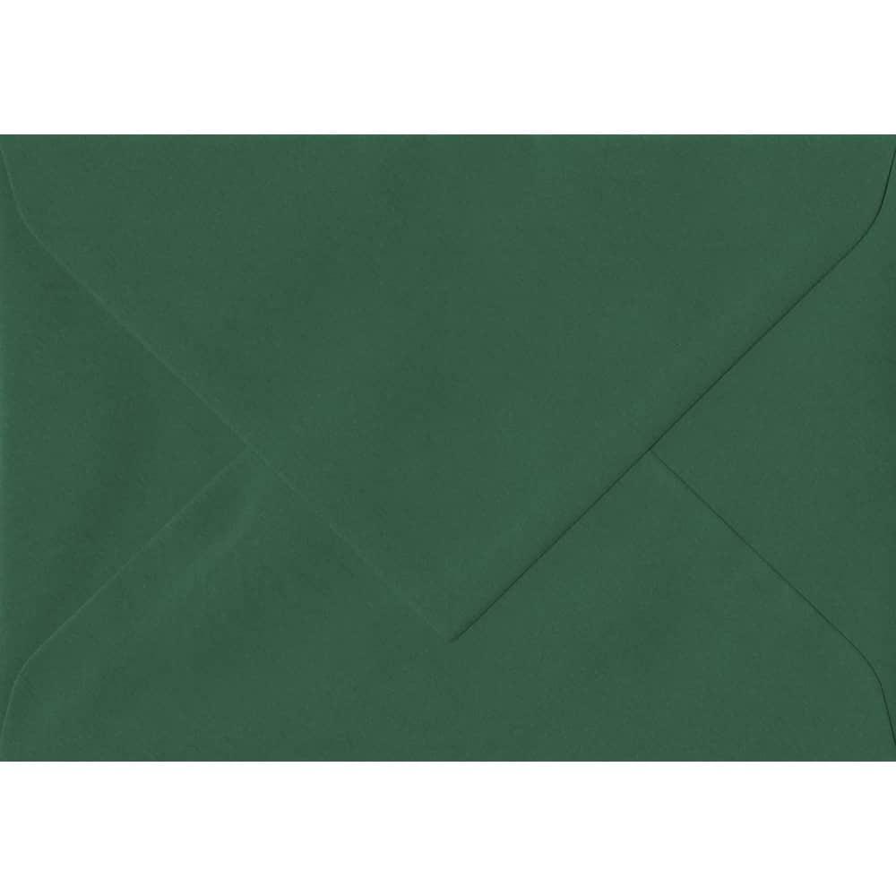 135mm x 191mm Racing Green Laid Envelope. 5x7 Paper Size. Gummed Flap. 100gsm Paper.
