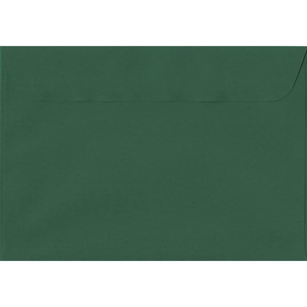 162mm x 229mm Racing Green Laid Envelope. C5/A5 Paper Size. Peel/Seal Flap. 100gsm Paper.