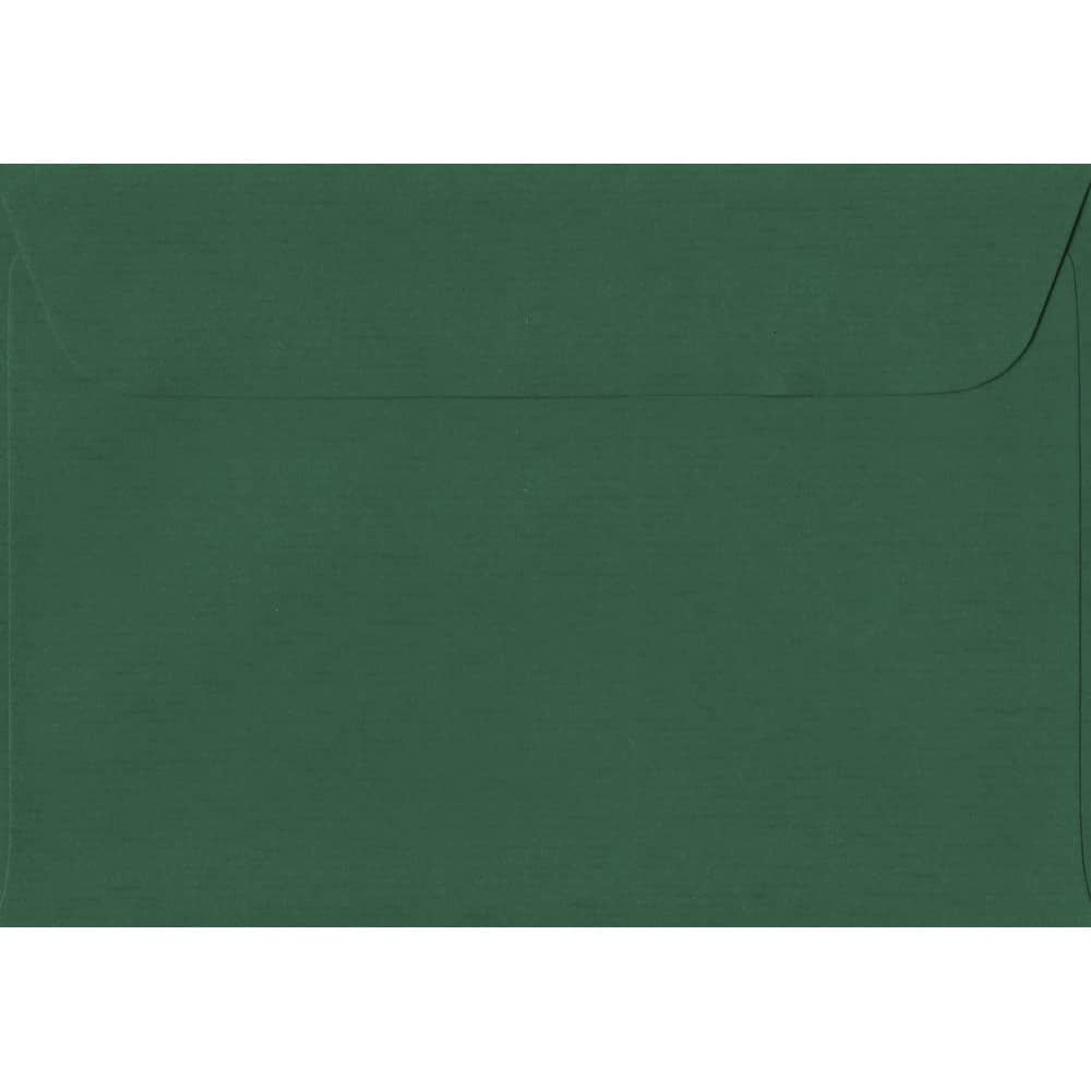 114mm x 162mm Racing Green Laid Envelope. C6/A6 Paper Size. Peel/Seal Flap. 100gsm Paper.