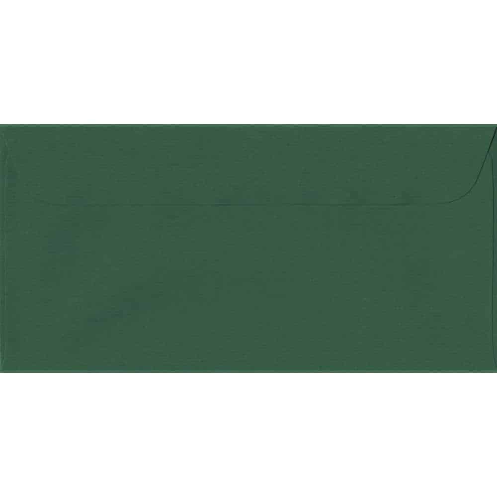 114mm x 224mm Racing Green Laid Envelope. DL Paper Size. Peel/Seal Flap. 100gsm Paper.