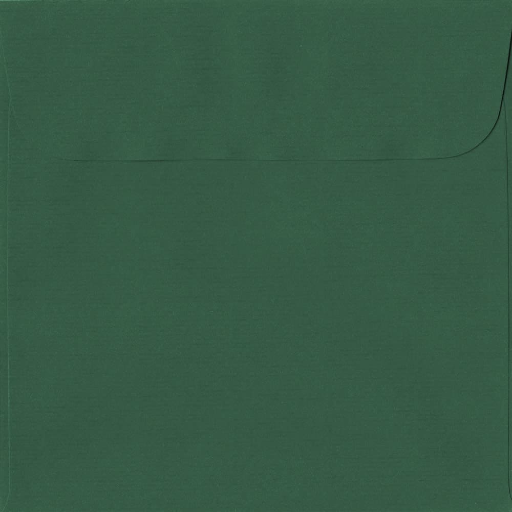 160mm x 160mm Racing Green Laid Envelope. Square Paper Size. Peel/Seal Flap. 100gsm Paper.