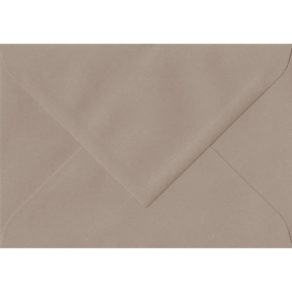 135mm x 191mm Taupe Laid Envelope. 5x7 Paper Size. Gummed Flap. 100gsm Paper.