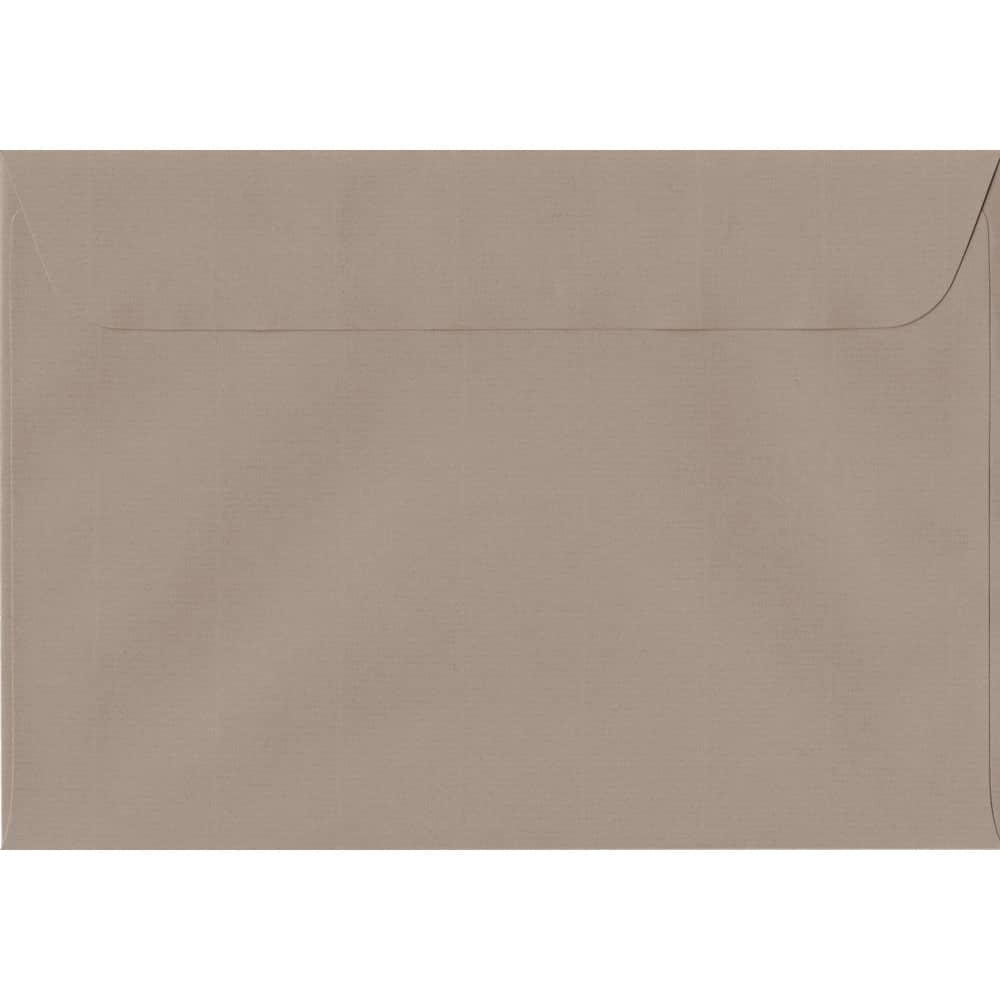 162mm x 229mm Taupe Laid Envelope. C5/A5 Paper Size. Peel/Seal Flap. 100gsm Paper.