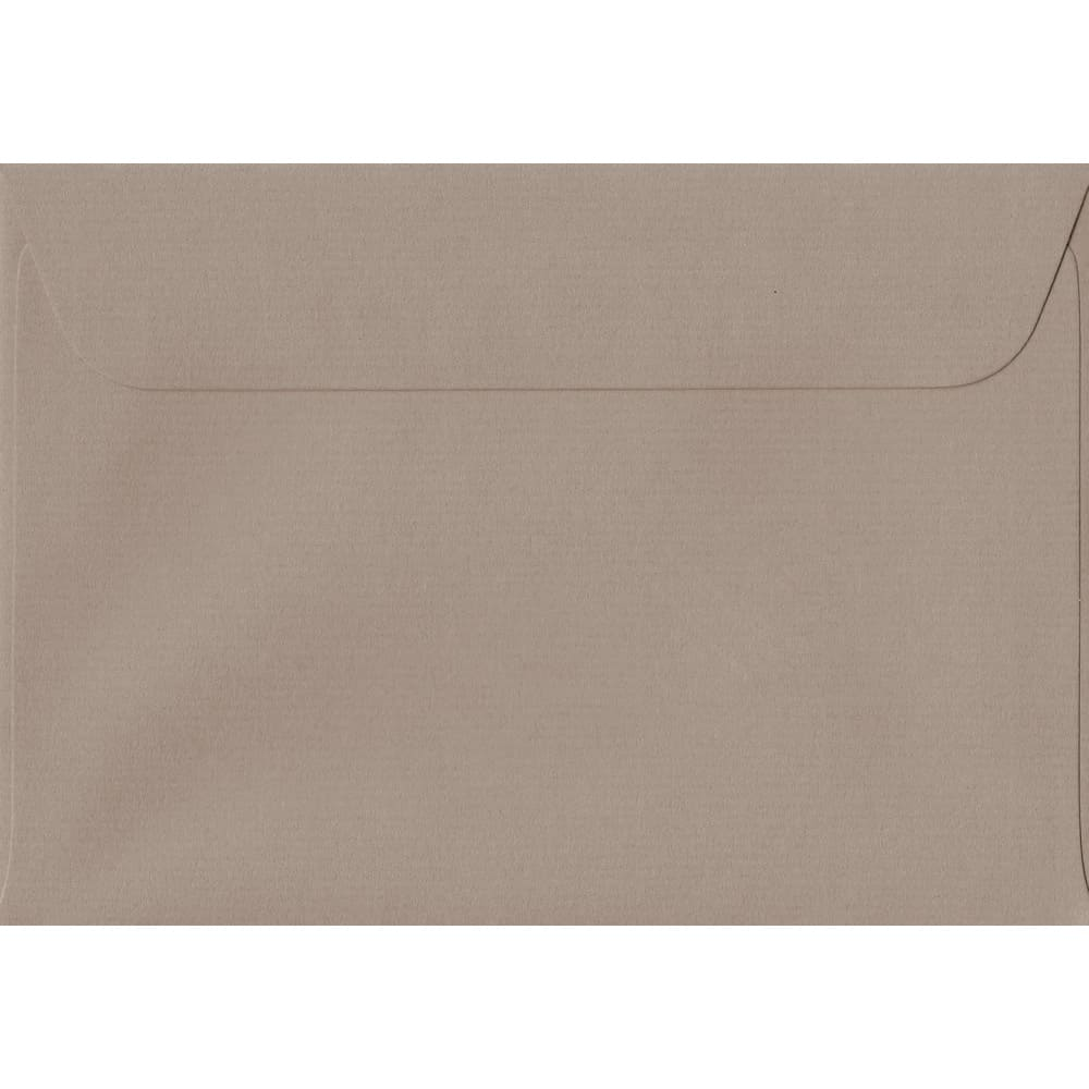 114mm x 162mm Taupe Laid Envelope. C6/A6 Paper Size. Peel/Seal Flap. 100gsm Paper.