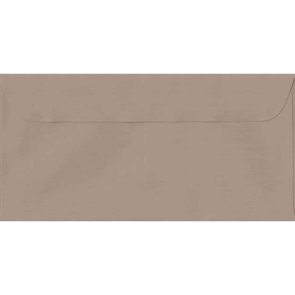 114mm x 224mm Taupe Laid Envelope. DL Paper Size. Peel/Seal Flap. 100gsm Paper.