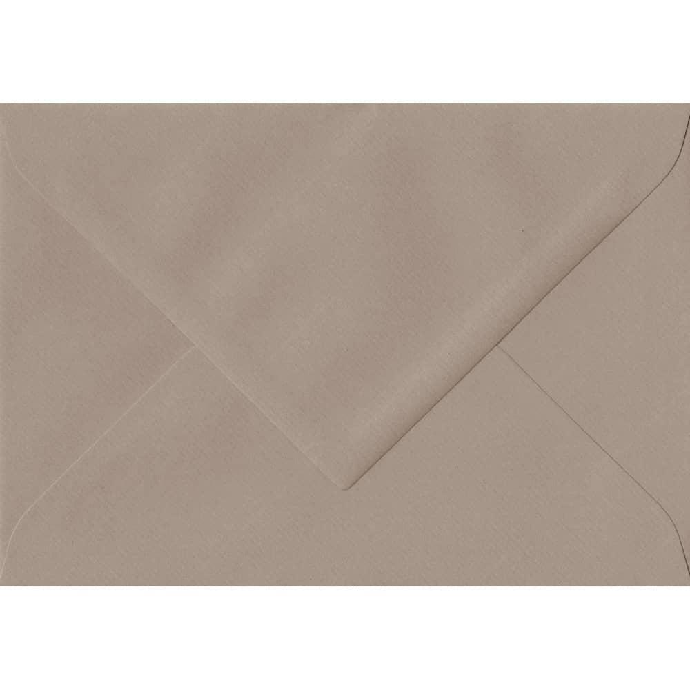 75mm x 110mm Taupe Laid Envelope. RSVP/Gift Card Size. Gummed Flap. 100gsm Paper.