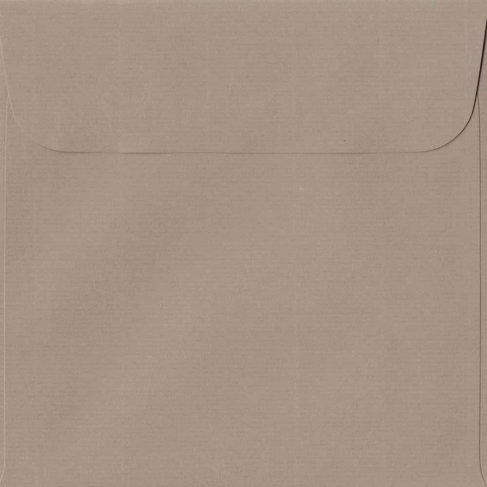 160mm x 160mm Taupe Laid Envelope. Square Paper Size. Peel/Seal Flap. 100gsm Paper.