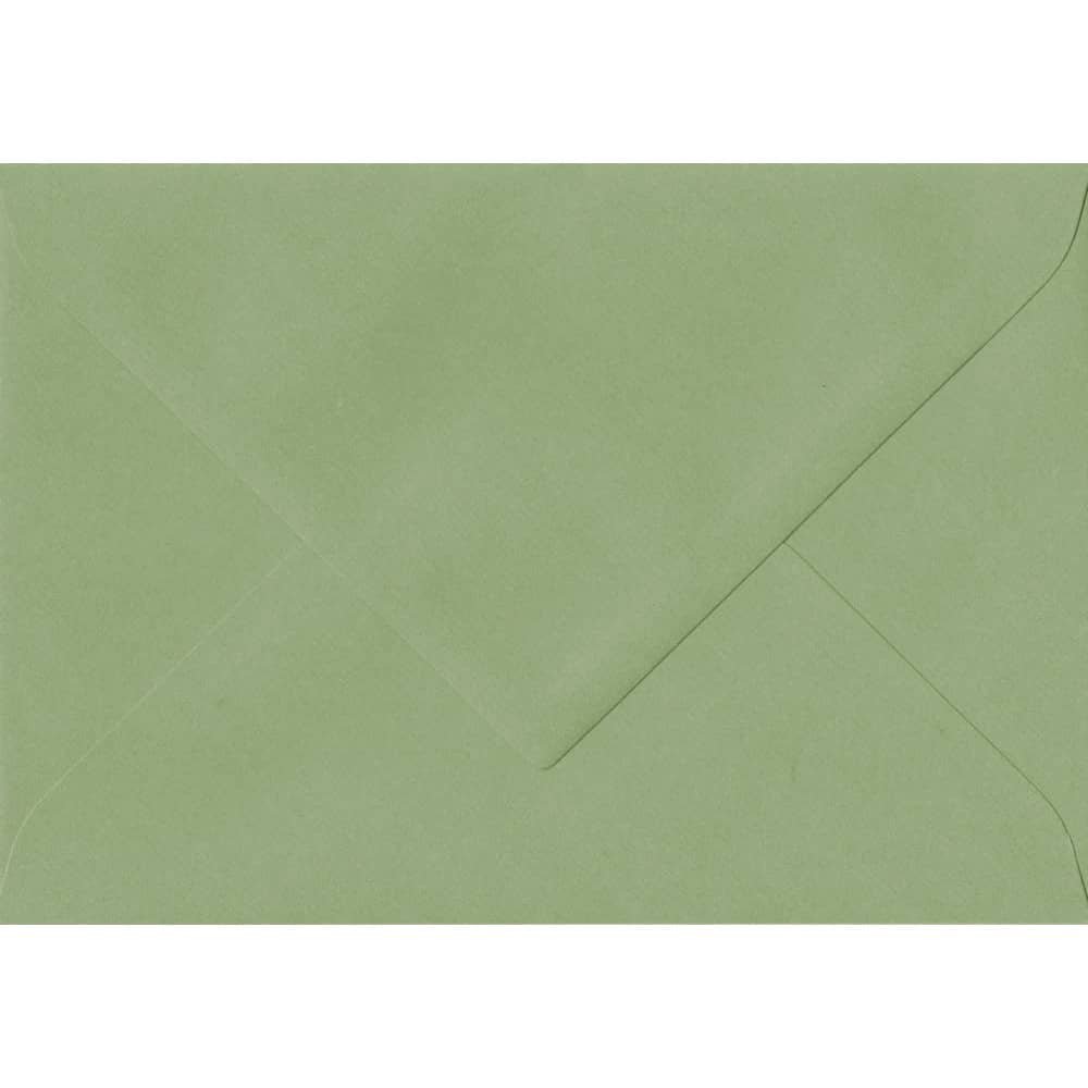 135mm x 191mm Wedgwood Green Laid Envelope. 5x7 Paper Size. Gummed Flap. 100gsm Paper.