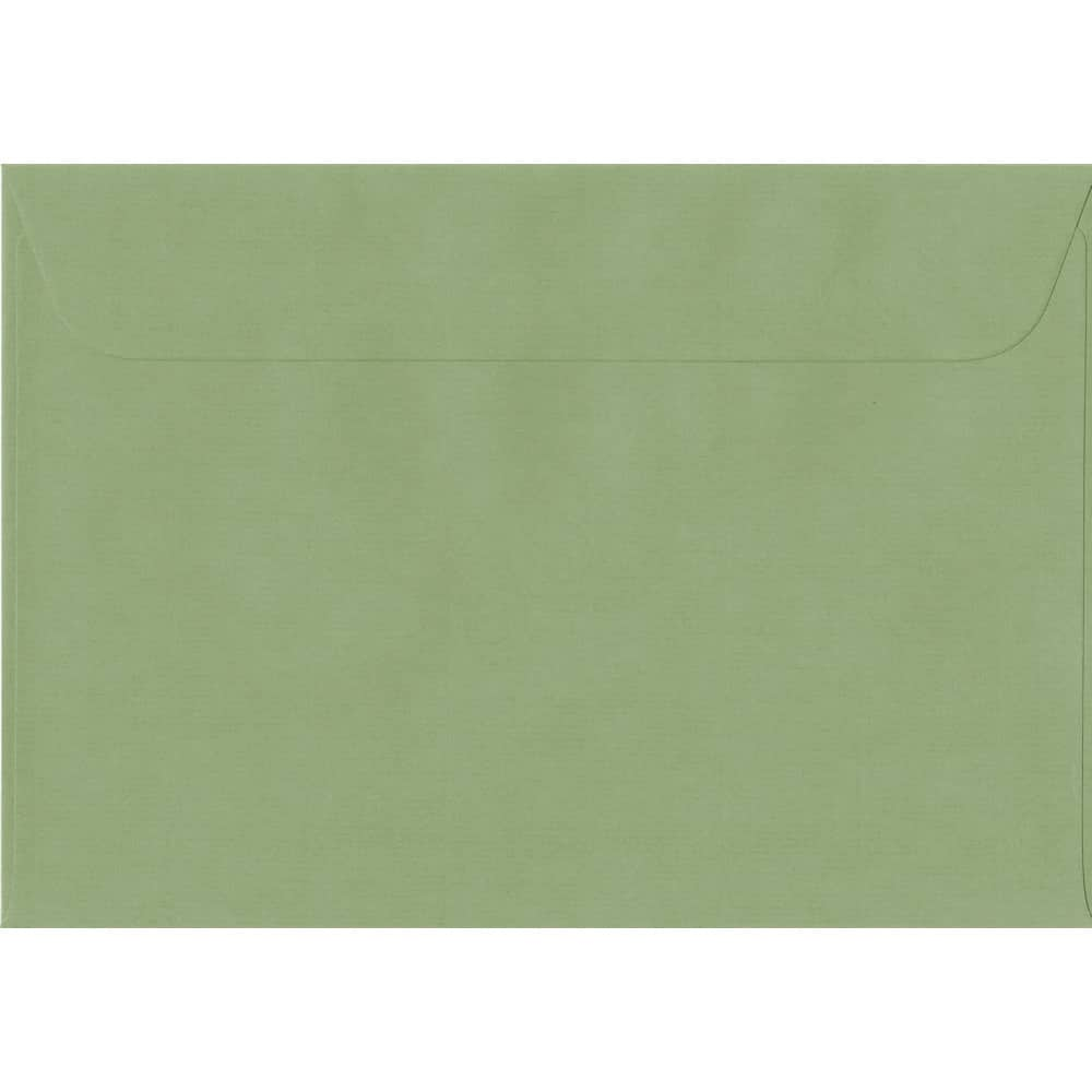 162mm x 229mm Wedgwood Green Laid Envelope. C5/A5 Paper Size. Peel/Seal Flap. 100gsm Paper.