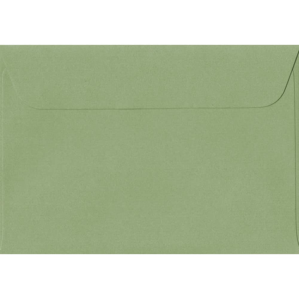 114mm x 162mm Wedgwood Green Laid Envelope. C6/A6 Paper Size. Peel/Seal Flap. 100gsm Paper.