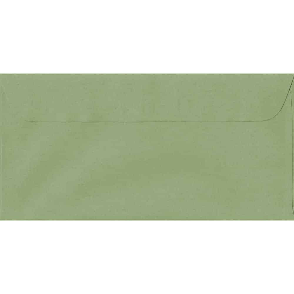 114mm x 224mm Wedgwood Green Laid Envelope. DL Paper Size. Peel/Seal Flap. 100gsm Paper.