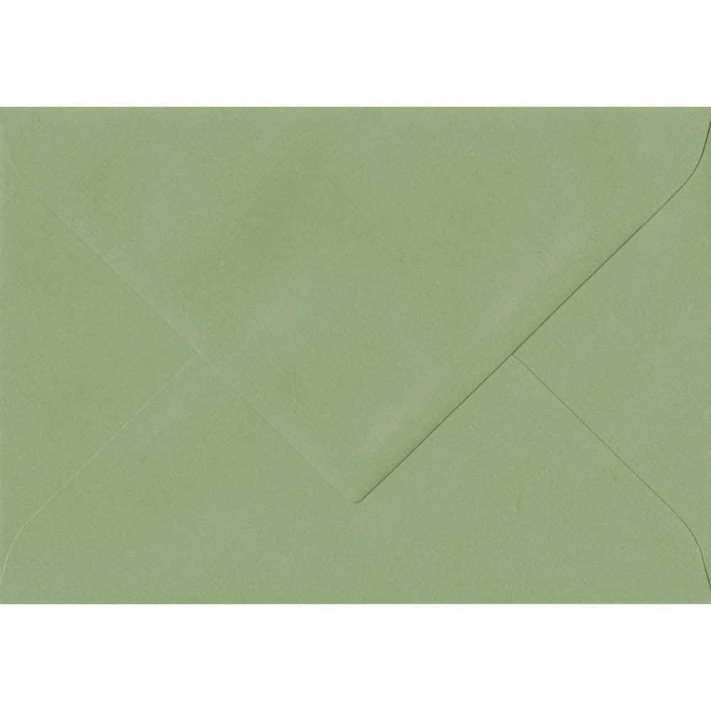 75mm x 110mm Wedgwood Green Laid Envelope. RSVP/Gift Card Size. Gummed Flap. 100gsm Paper.