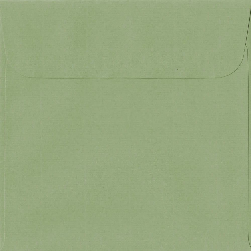 160mm x 160mm Wedgwood Green Laid Envelope. Square Paper Size. Peel/Seal Flap. 100gsm Paper.