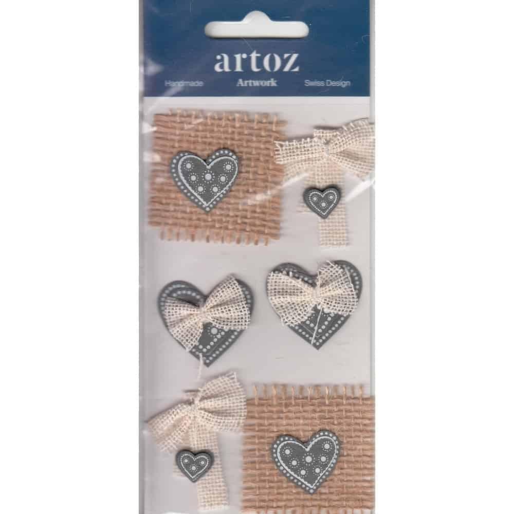 Christmas Hearts & Bows Craft Embellishment By Artoz