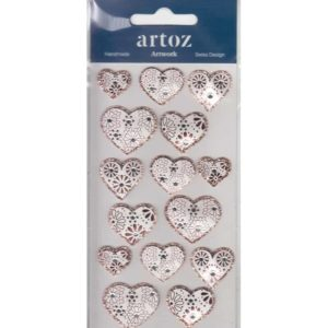 Bronze Pattern Love Hearts Craft Embellishment By Artoz