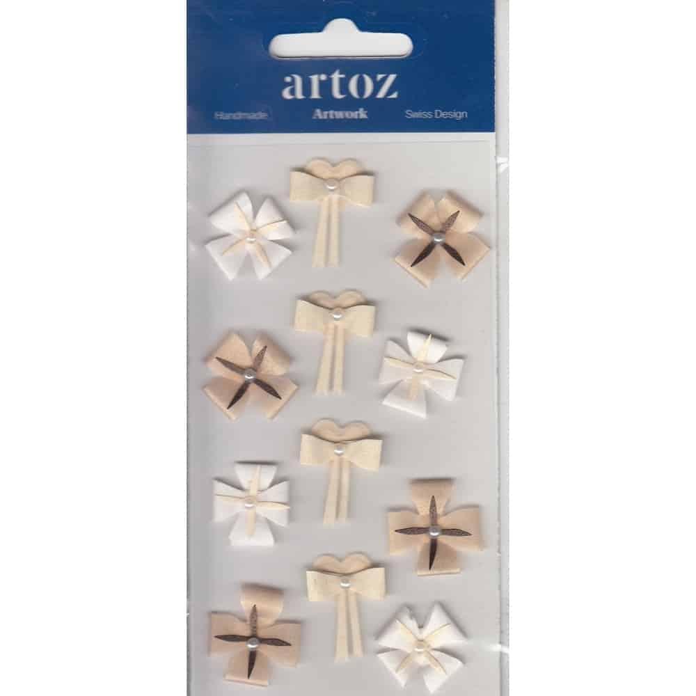Cream Ivory Wedding Bows Craft Embellishment By Artoz
