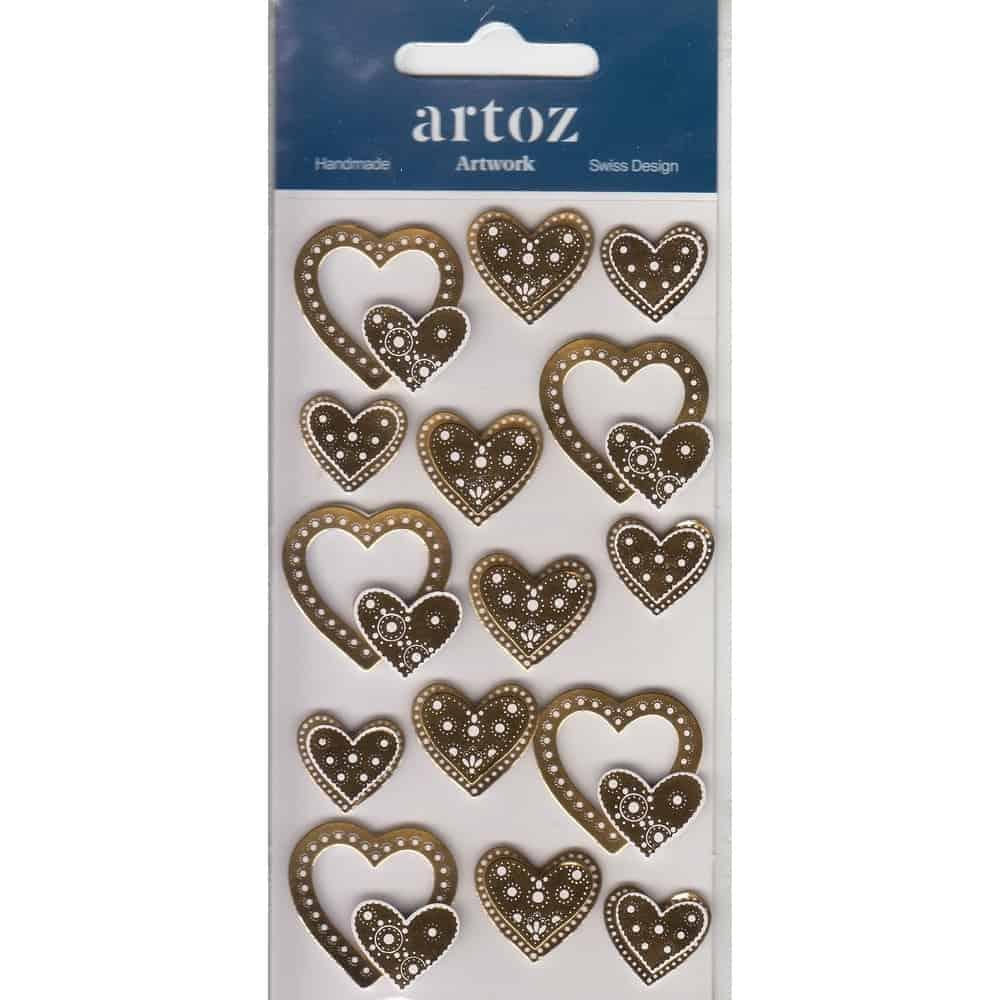 Gold Wedding Love Hearts Craft Embellishment By Artoz