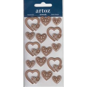Bronze Wedding Love Hearts Craft Embellishment By Artoz