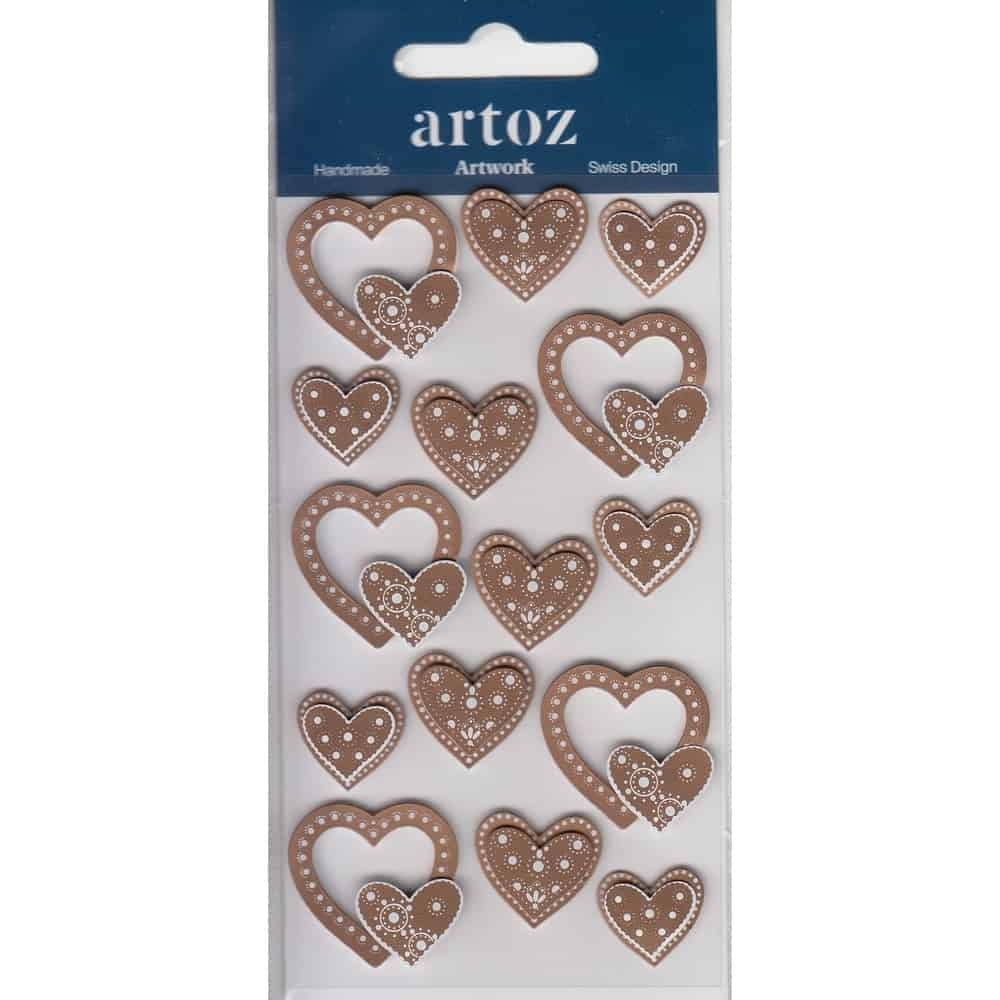 Bronze Wedding Love Hearts Craft Embellishment By Artoz
