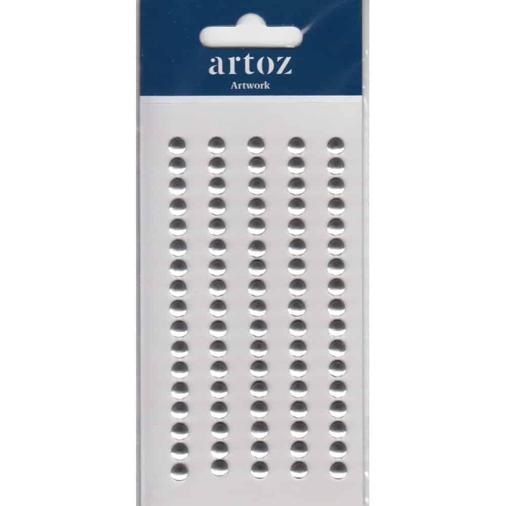 Metallic Silver Button Heads Craft Embellishment By Artoz