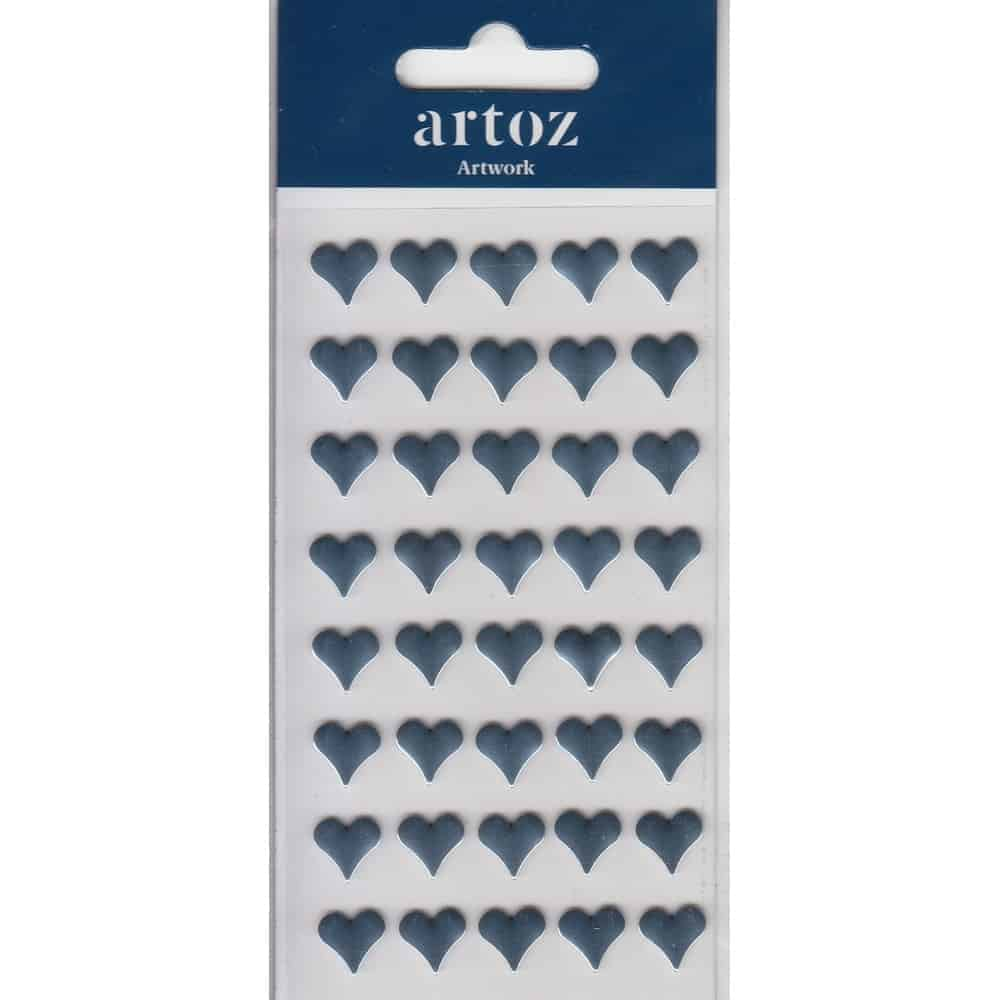Metallic Blue Hearts Craft Embellishment By Artoz