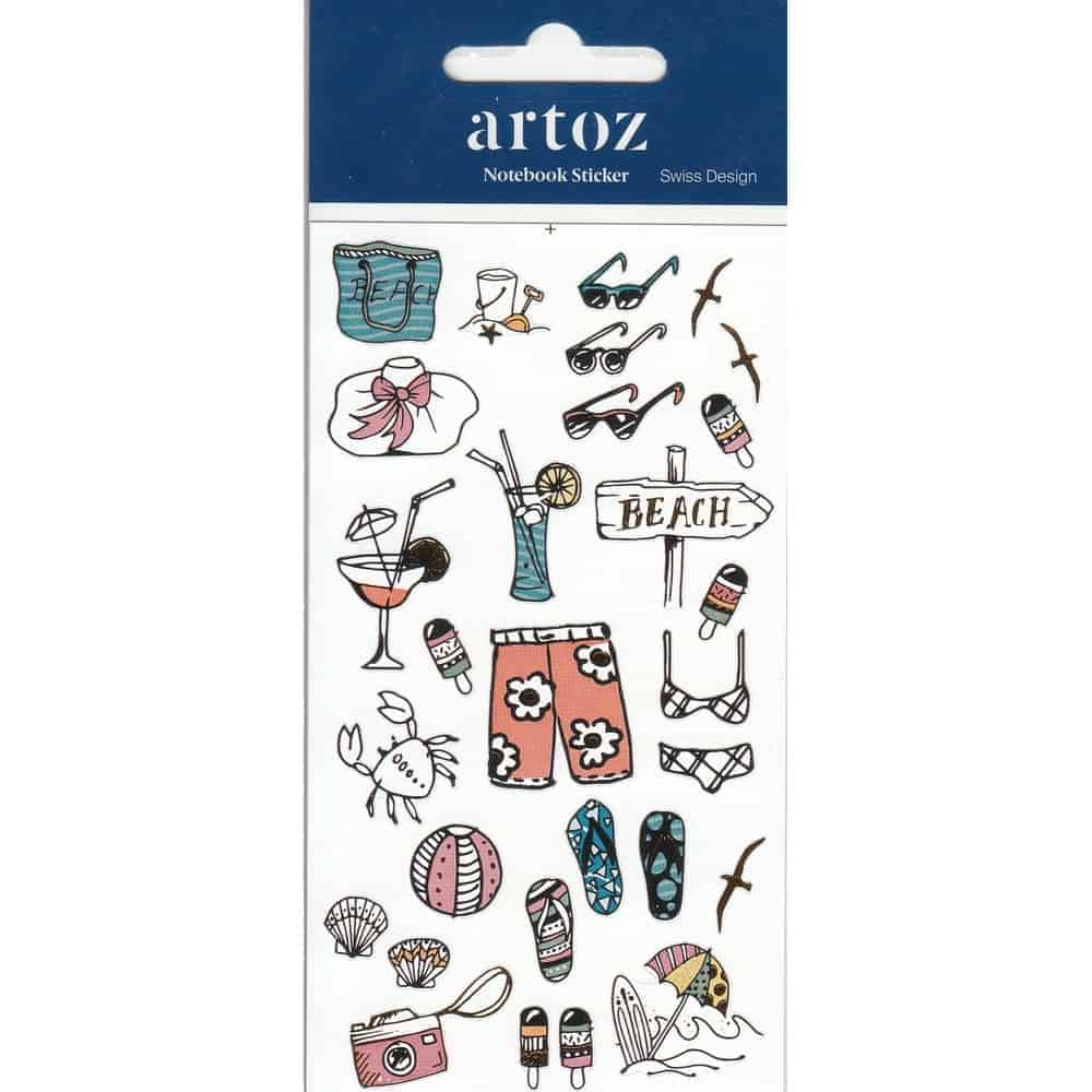Summer Holiday Self Adhesive Stickers By Artoz