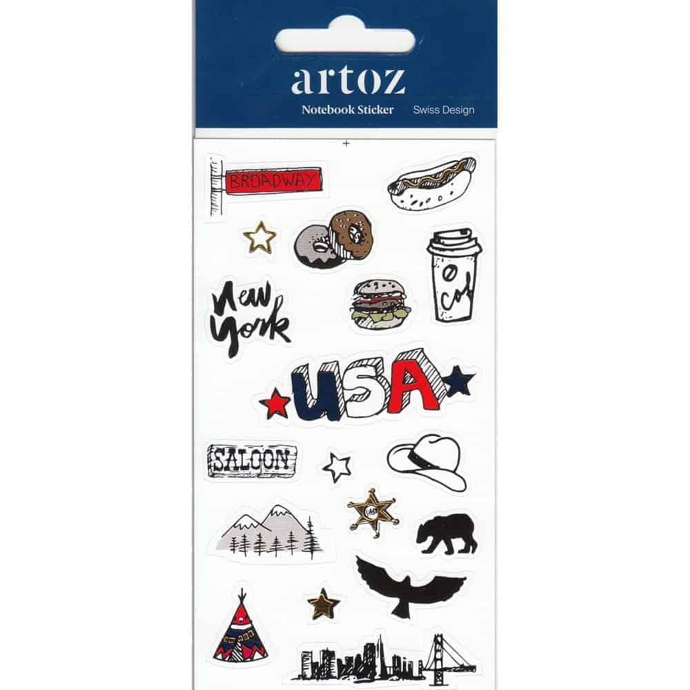 Usa Self Adhesive Stickers By Artoz
