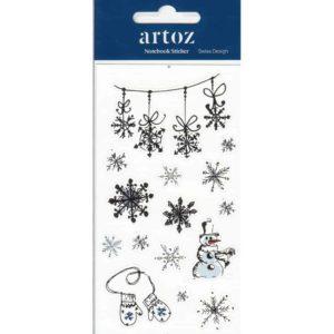 Christmas Snowflake Self Adhesive Stickers By Artoz