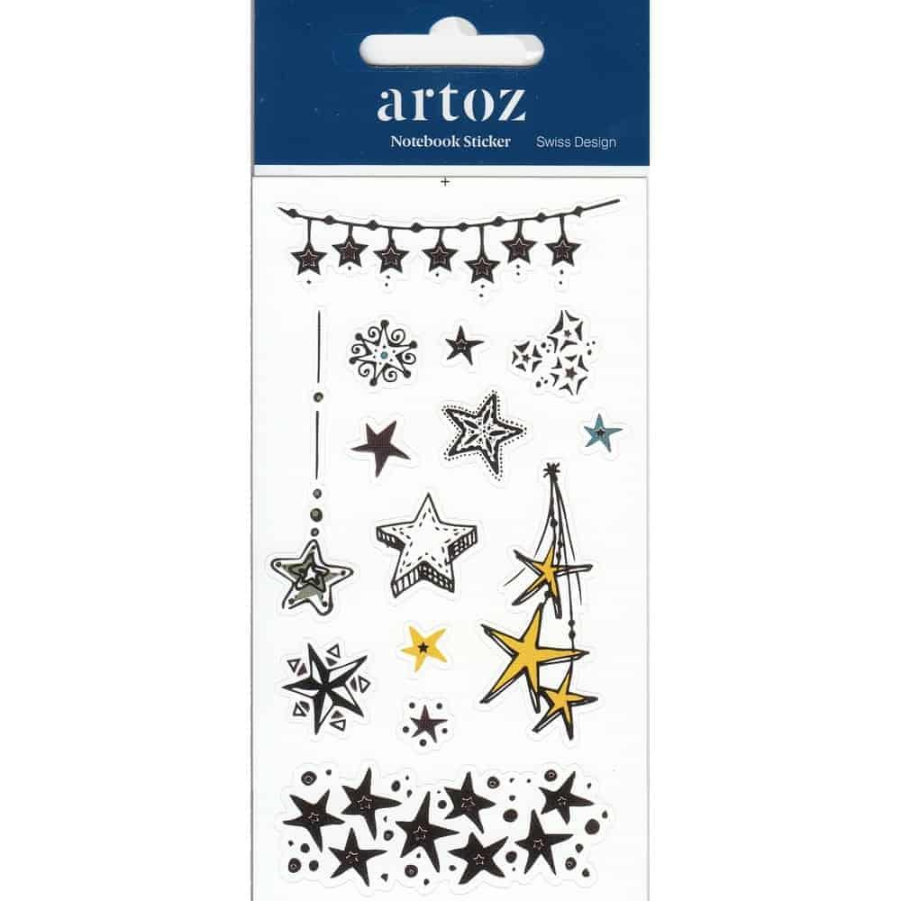 Christmas Star Self Adhesive Stickers By Artoz