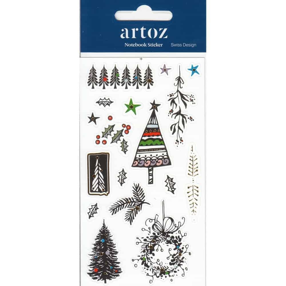 Christmas Tree Self Adhesive Stickers By Artoz