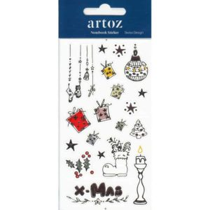 Christmas Present Self Adhesive Stickers By Artoz