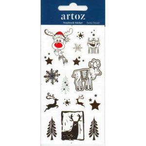 Christmas Reindeer Self Adhesive Stickers By Artoz